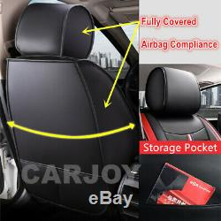 Black leather & Material Car Seat Covers Subaru Impreza Forester Outback Liberty