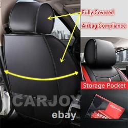 Black leather & Material Car Seat Covers Toyota Camry Corolla Aurion Prius Rav4