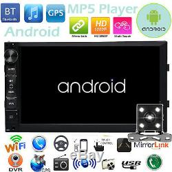 Bluetooth Car Stereo Radio Android 2 DIN 7 MP5 Player GPS Wifi USB +Rear Camera