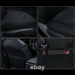 Car Custom Fit Leather Seat Covers Cushions Full Set For Toyota Camry 2018-2022