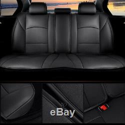 Car Seat Cover For 2013-2019 Ram 1500 2500 3500 4 Door Cushion Protector Black
