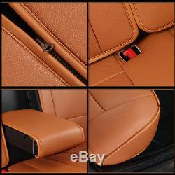 Car Seat Cover For Ford F-150 2010-2018 5-Seats Front & Rear PU Leather Cushion