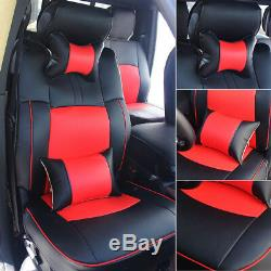Car Seat Cover Front+Rear Cushion PU Leather For Dodge Ram 1500 2500 2009-2018
