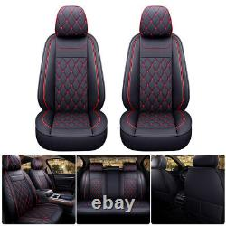 Car Seat Cover PU Leather Fits For 2007-2021 Chevrolet Silverado GMC Sierra 1500