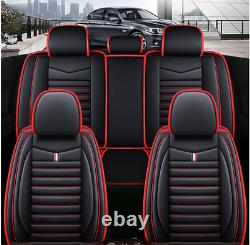 Car Seat Cover Protector Front & Rear Full Set PU Leather Interior Accessories