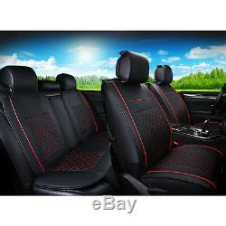 Car Seat Covers 5-Sits SUV Truck PU Leather Sit Cushions Pillows Car Accessories
