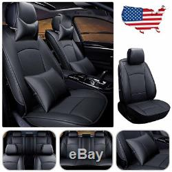 Car Seat Covers For Ford F150 2010-2018 5 Seats Front & Rear withPillow Set Black