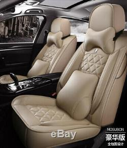 Car Seat Covers Full Surround Cushions PU Leather Protectors For Mercedes-Benz