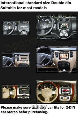 Car Stereo Bluetooth Radio Double 2 Din DVD MirrorLink For GPS Navigation&Camera