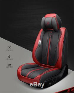 Comfortable 6D Microfiber Leather Car Seat Cover Cushion Black & Red From US