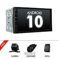 DVR+CAM+OBD+Double 2Din 7in Android 10 Car Stereo MP5 Player GPS Navi WiFi Radio
