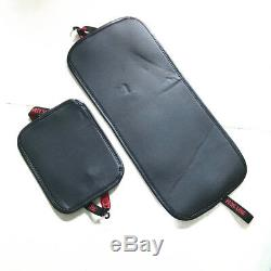 Deluxe Black Leather Full 6D Surround Car Seat Cover Cushion Set For 5 Seat Car