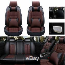 Deluxe Car Seat Covers Full Set 5 seat Thicken PU Leather Front+Rear Cushion