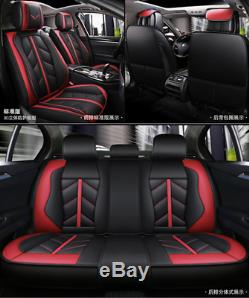 Deluxe Edition Full Car Seat Cover For 5-seat Car Accessories Interior Black/Red