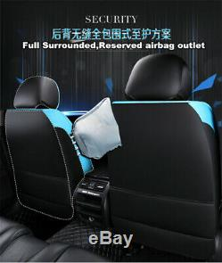 Deluxe Edition PU Leather 5-Seat Car Seat Cover Cushion For Interior Accessories