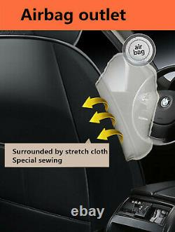 Deluxe Edition PU Leather Full Set Car Seat Covers Cushion Chair Protector Mat