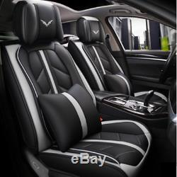 Deluxe Full Set Car Seat Cover Microfiber Leather Cushion Interior Accessories