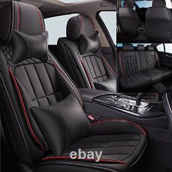 Deluxe PU Leather Full Surround Car Seat Cover Full Set For Interior Accessories