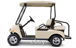 Drivable Golf Car Cart Enclosure Cover Fits 4 Person Seat / 2 Pass. Roof -Black