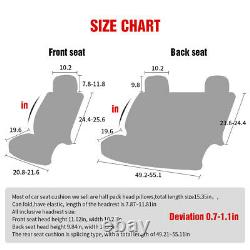 Fly5D Luxury Car Seat Cover 5-Seats Front & Rear Cushion Universal Auto Interior