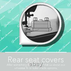 For LDV T60 Strong Canvas All Over! Waterproof Black Car Front Seat Covers