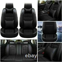 For Toyota RAV4 Updated Top PU Leather Car Seat Cover Full Set Black Universal
