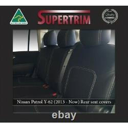 Front And Rear Car Seat Covers Fit Nissan Patrol Y62 Premium Waterproof