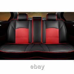 Full Car Seat Cover For Ford F-150 PU Leather Front Rear 5-Seit withPillow Cushion