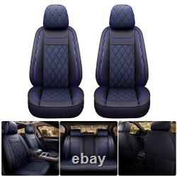 Full Set Leather Car Seat Covers For Chevey Silverado GMC Sierra 1500 2007-2021