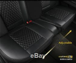Full Set PU Leather Car Seat Cover Cushion Front + Rear Split type Seat Cushion