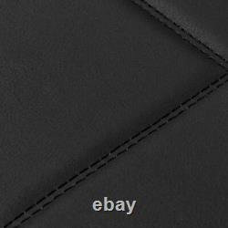 Full Set SeatWrap Leatherette Car Seat Covers Charcoal Gray Piping on Black