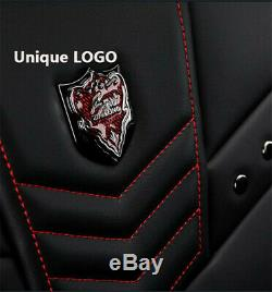 Full Surrounded Car Seat Cover Cushion PU Leather Auto Interior Fit for 5 Seat