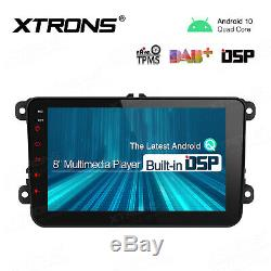 GPS Android 10.0 8 Car Stereo Multimedia Player Radio For VW Passat CC Golf MK6