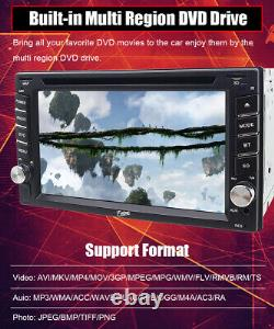 GPS Navigation With Map Bluetooth Radio Double Din 6.2Car Stereo DVD Player CD
