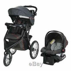 Graco Jogger Stroller with Car Seat Travel System Playard Bed Diaper Bag Combo
