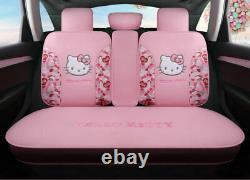 Hello Kitty Cartoon Car Seat Covers Set Universal Car Interior Pink Color New
