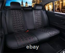 High-Quality Deluxe Black PU Leather Full Set Car Seat Covers Fit Vw Golf Polo