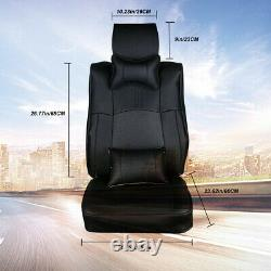 Leather 5 Seats Car Seat Cover For 4-Door Toyota Tundra 2007-2019 Black Cushion