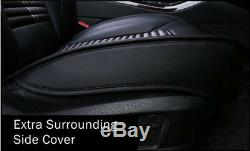 Leather Look Black Car Seat Covers fits Mitsubishi Lancer Outlander ASX Triton