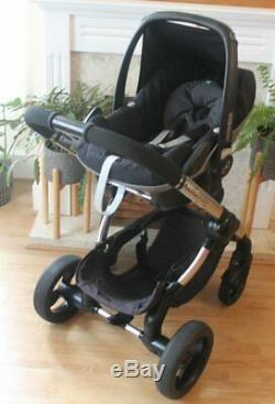 Lovely Icandy Peach 3 Black Magic Travel System 3 In 1 Maxi Cosi Car Seat
