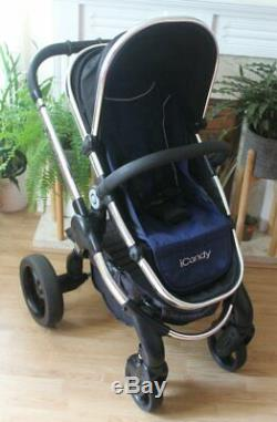Lovely Icandy Peach 3 Black Magic Travel System 3 In 1 Maxi Cosi Pebble Car Seat