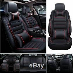 Luxury 5-Sit Car Seat Covers Front+Rear Cushion Universal Protector Full Sit Set