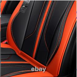 Luxury 5 Sits Car Front Rear Seat Leather Seat Cover Cushion 6D Full Surrounded