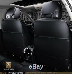 Luxury Full Seat PU Leather Car Seat Cover Cushion Pad 6D Surround Breathable
