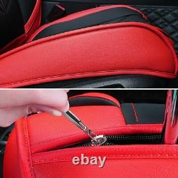 Luxury PU Leather Car Seat Covers Front&Rear Full Set for 5-Seats Car SUV Truck