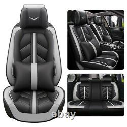Luxury Universal Car Seat Covers Full Set 5-Sit Front Rear Leather Cushion 2020