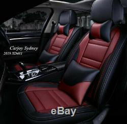 Maroon Red Black Car Seat Covers for Subaru Impreza Forester Outback Liberty WRX