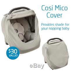 Maxi-Cosi Mico 30 Infant Car Seat with Base & Accessories, Night Black