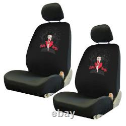 New 9pc Betty Boop Red Dress Car Truck Front Rear Rubber Floor Mats Seat Covers