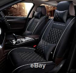 Newly Car Seat Cover Leather Comfortable Durable 5-Seat For Interior Accessories